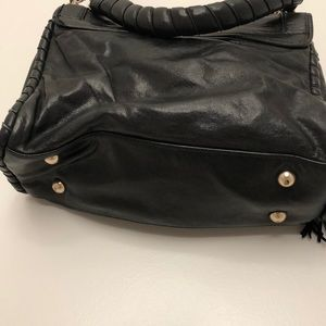 Cynthia Rowley Bags - Cynthia Rowley Black Leather Tasseled Bag